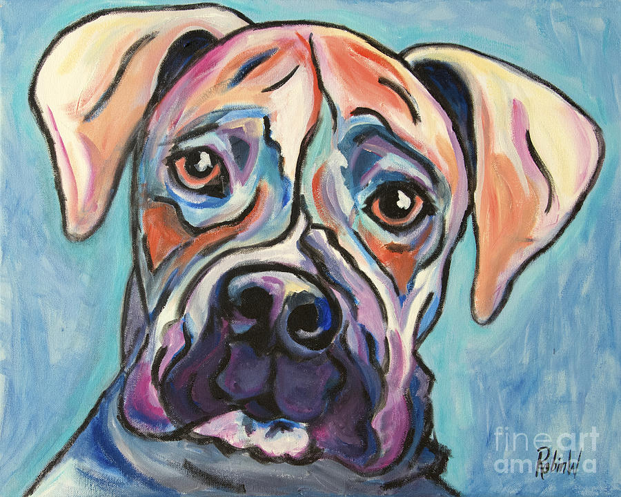 Boxer Painting - Pop Art Boxer by Robin Wiesneth