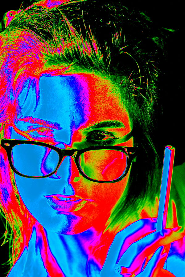 Colorful Photograph - Pop Art Lady by Arie Arik Chen