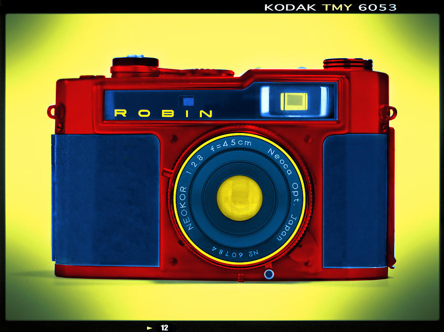 Film Camera Photograph - Pop Art Robin by Mike McGlothlen