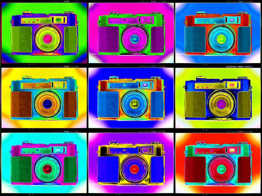 Pop Art Photograph - Pop Art Robin Proofs by Mike McGlothlen