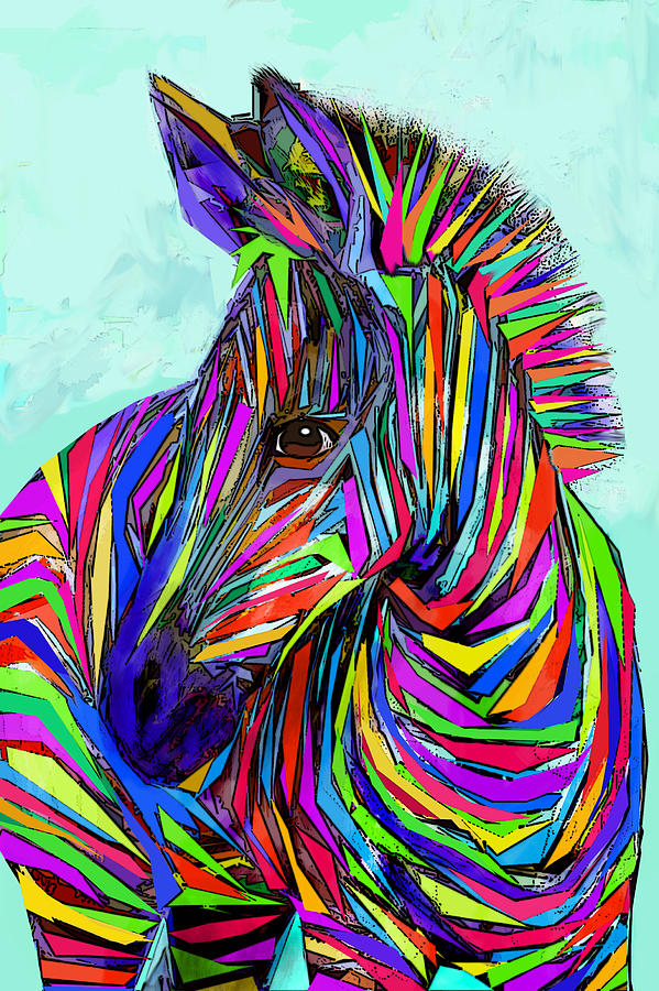 Pop Art Zebra Digital Art by Jane Schnetlage