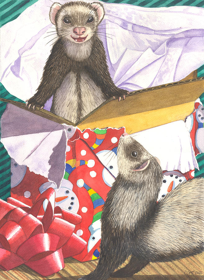Ferret Painting - Pop by Catherine G McElroy