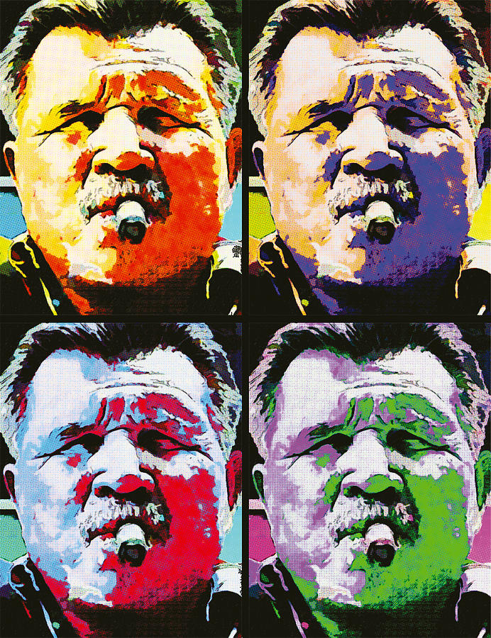 Mike Ditka Painting - Pop Ditka by John Farr