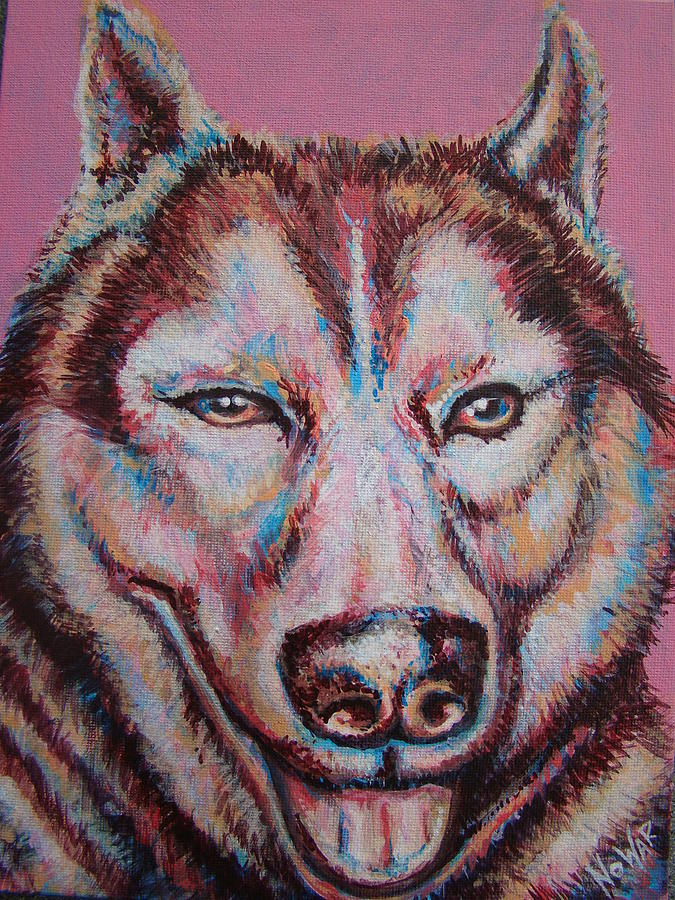 Pop Dog Painting by Jack No War