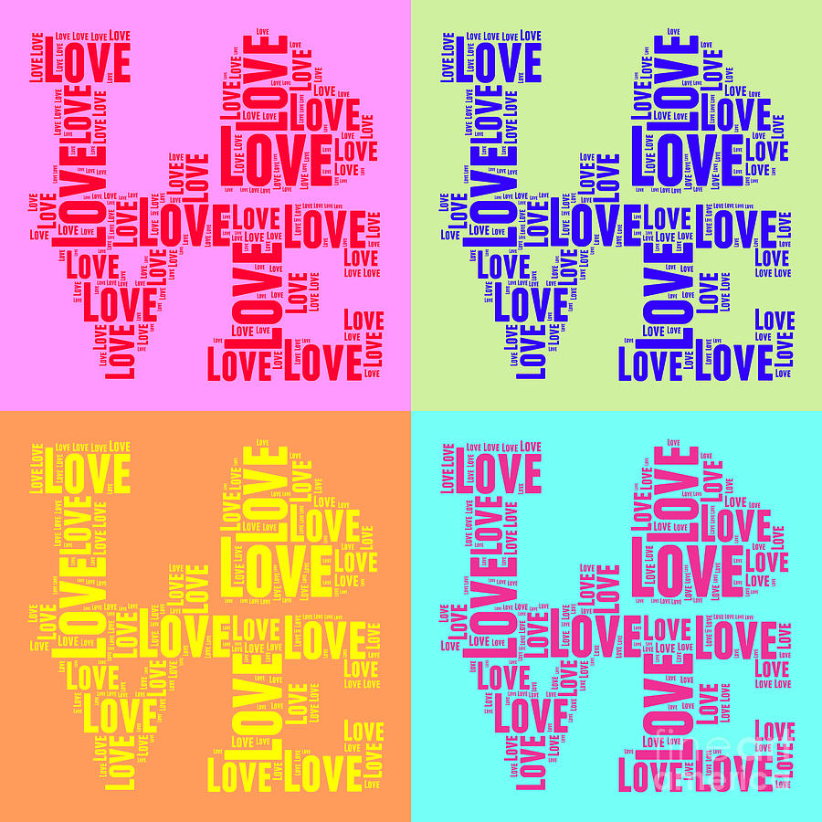 Love Digital Art - Pop Love Collage by Delphimages Photo Creations