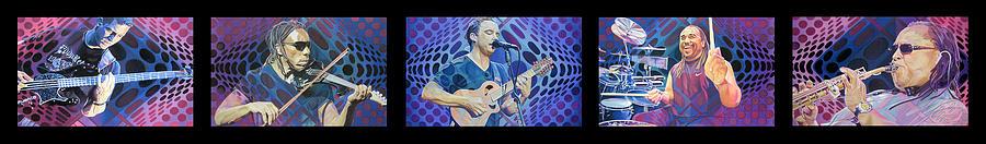 Dave Matthews Drawing - The Dave Matthews Band Op Art Style by Joshua Morton