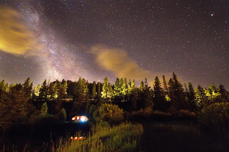 Star Photograph - Pop Up Camper Under The Milky Way Sky by James BO Insogna