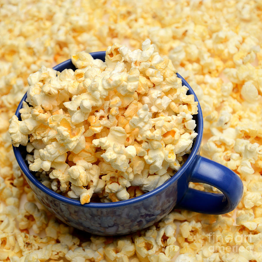 Blue Photograph - Popcorn by Ciprian Kis