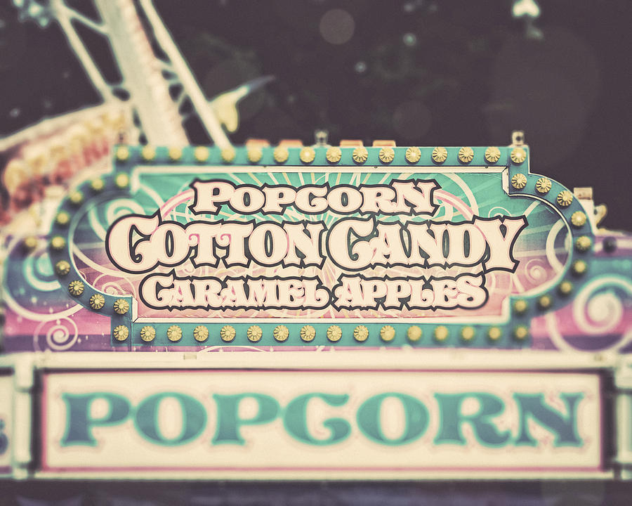 Popcorn Stand Photograph - Popcorn Stand Carnival Photograph From The Summer Fair by Lisa Russo