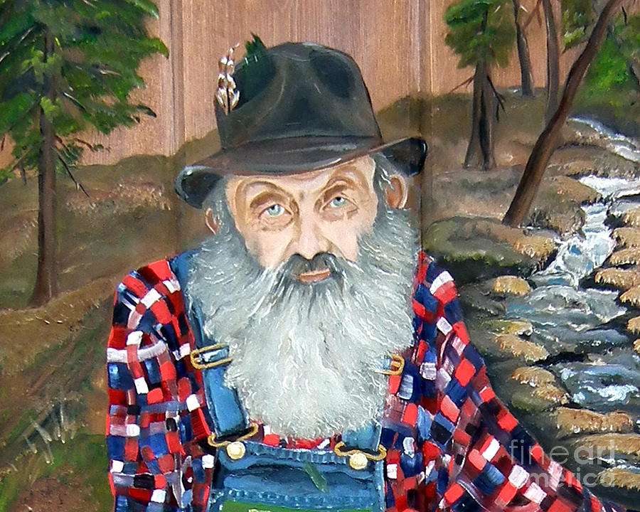 Popcorn Sutton - Moonshine Legend - landscape view by Jan Dappen