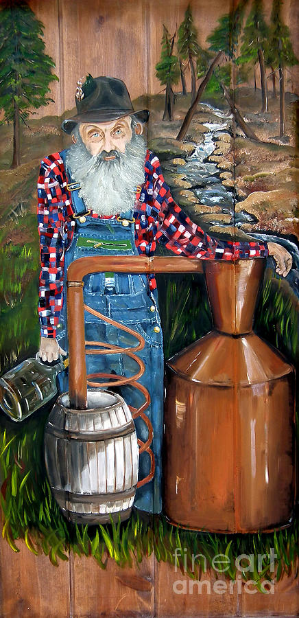 Popcorn Sutton - Moonshiner - Redneck by Jan Dappen