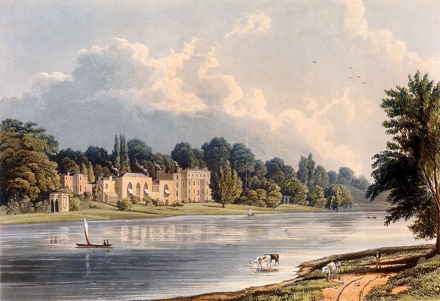 Twickenham Drawing - Popes Villa At Twickenham, 1828 by William Westall