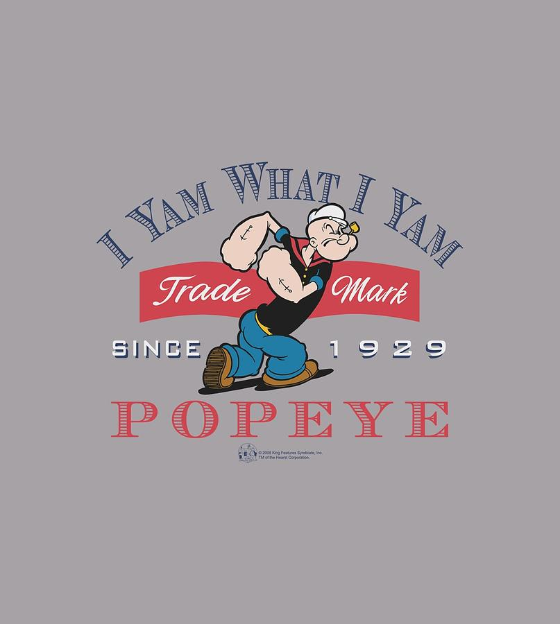 Popeye Digital Art - Popeye - I Yam What I Yam by Brand A
