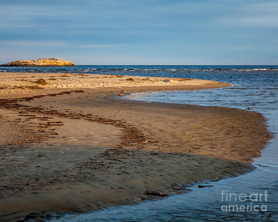 America Photograph - Popham Beach Curve by Susan Cole Kelly