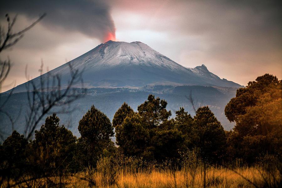 Popocatepetl Volcano From Puebla State Photograph by ©fitopardo.com