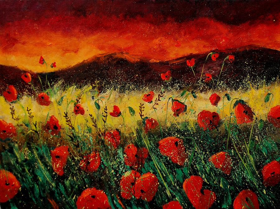 Poppies Painting - Poppies 68 by Pol Ledent