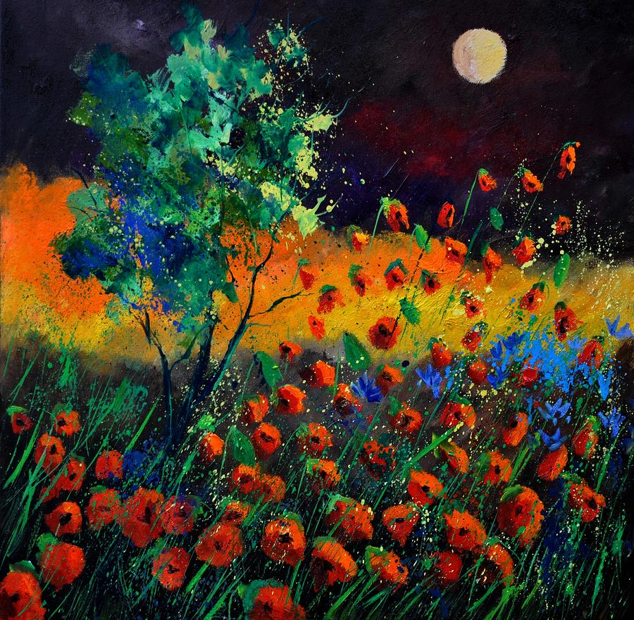 Landscape Painting - Poppies 774111 by Pol Ledent