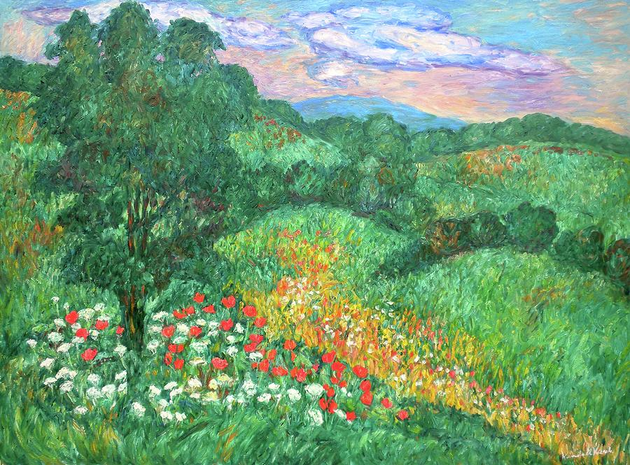 Landscapes Painting - Poppies And Lace by Kendall Kessler