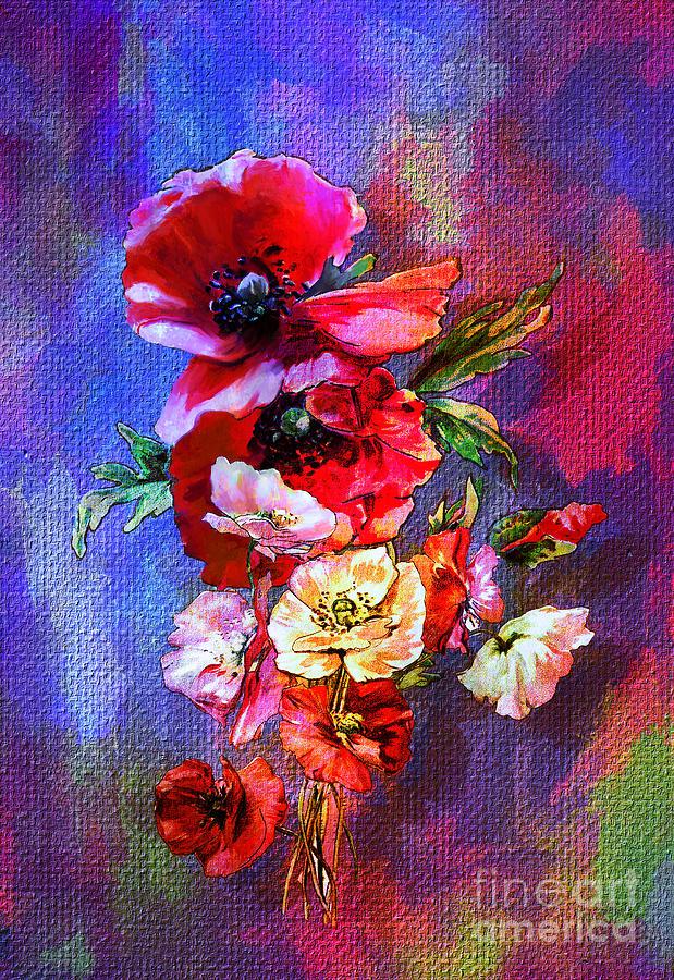 Poppies Painting - Poppies by Andrzej Szczerski