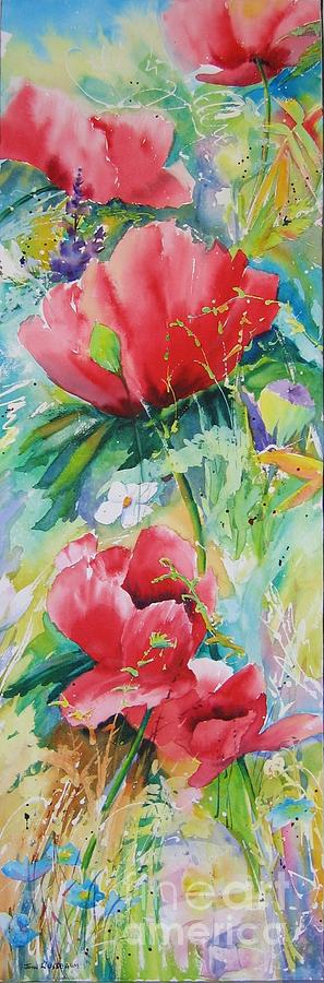 Poppies Painting - Poppies At Play by John Nussbaum