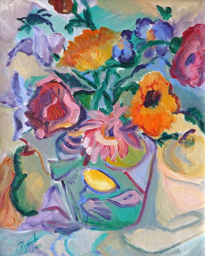 Painting Painting - Poppies by Brenda Ruark