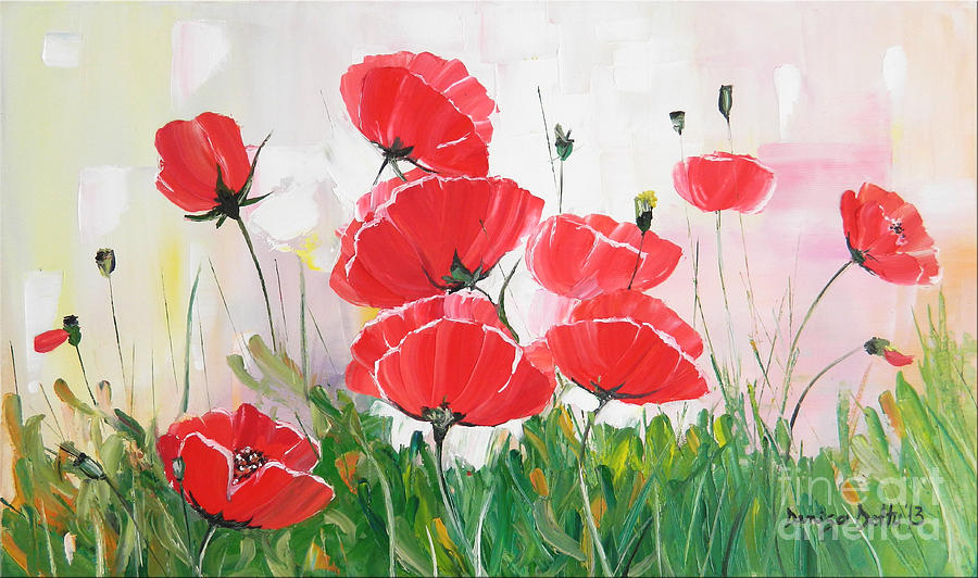 Original Painting - Poppies by Denisa Laura Doltu