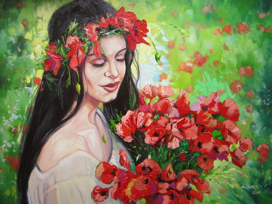 Poppies Painting - Poppies Fairy by Andrei Attila Mezei