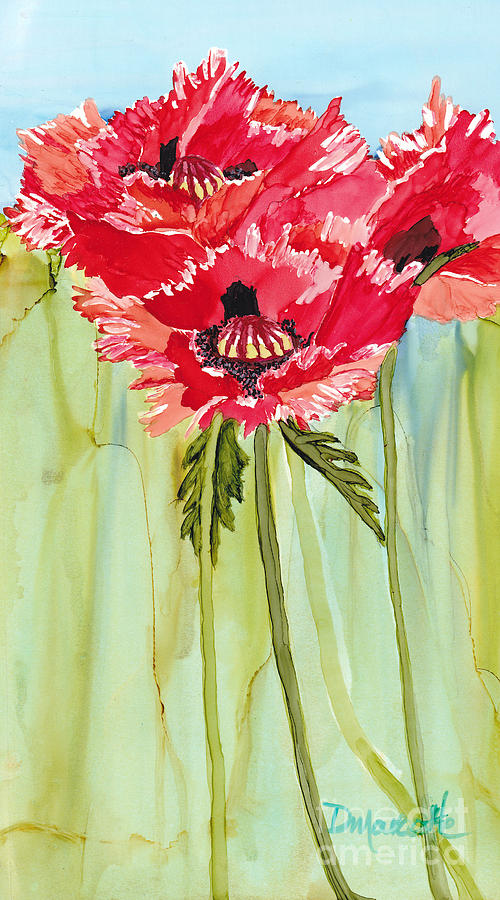 Poppies Painting - Poppies I by Diane Marcotte