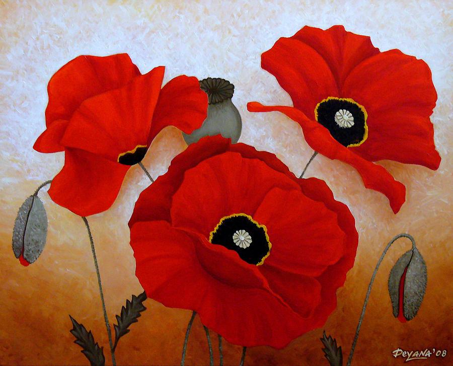 Poppies Painting - Poppies II by Deyana Deco