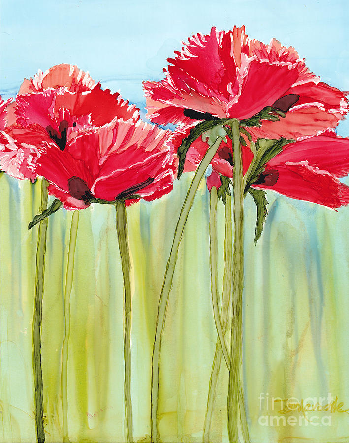 Poppies Painting - Poppies II by Diane Marcotte
