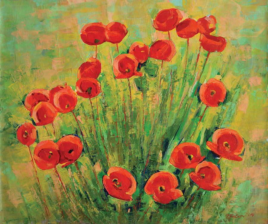 Poppies Painting - Poppies by Iliyan Bozhanov