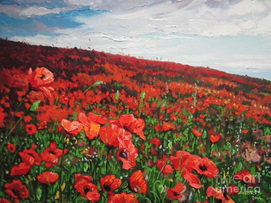 Poppies Painting - Poppies Impression by Andrei Attila Mezei