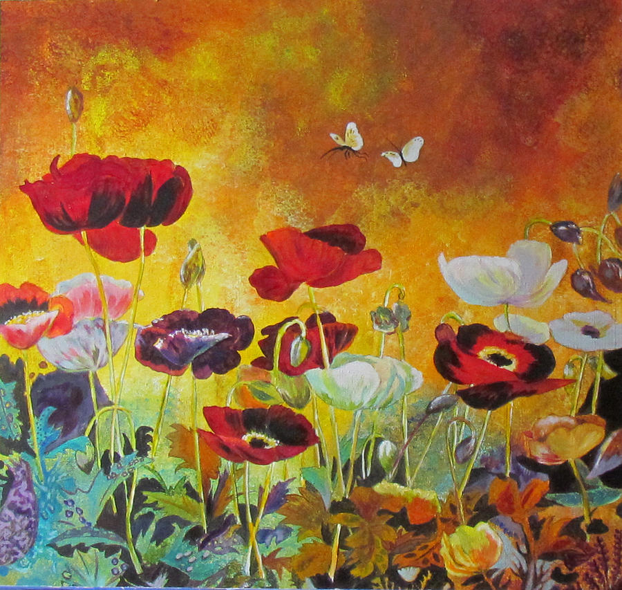 Poppies in Autumn by Susan Duxter