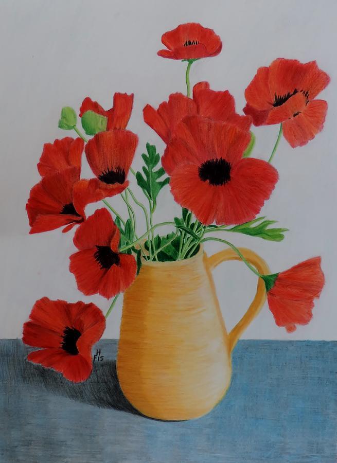 Poppies in jug by Frank Hamilton