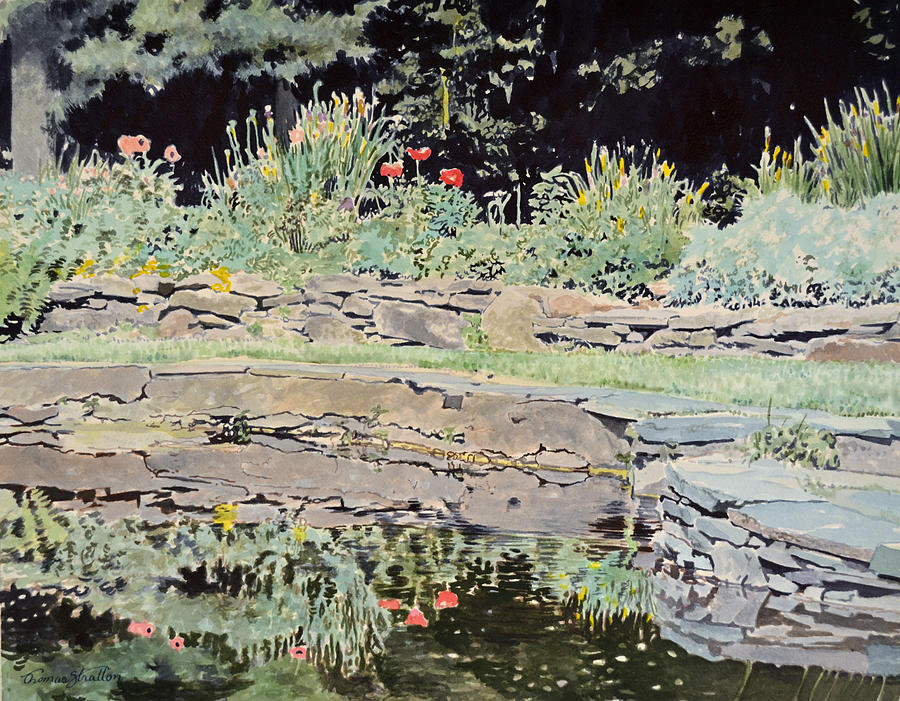 Poppies Painting - Poppies In The Pool by Thomas Stratton