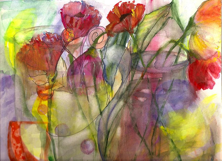 Poppies Painting - Poppies In The Sun by Claudia Smaletz