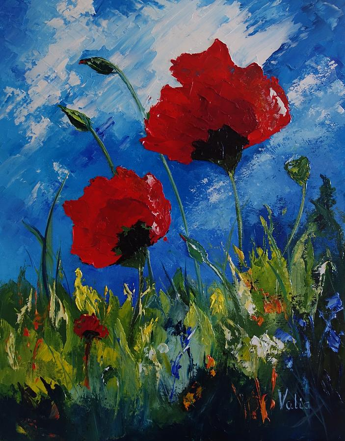 poppies in the wind - photo #14