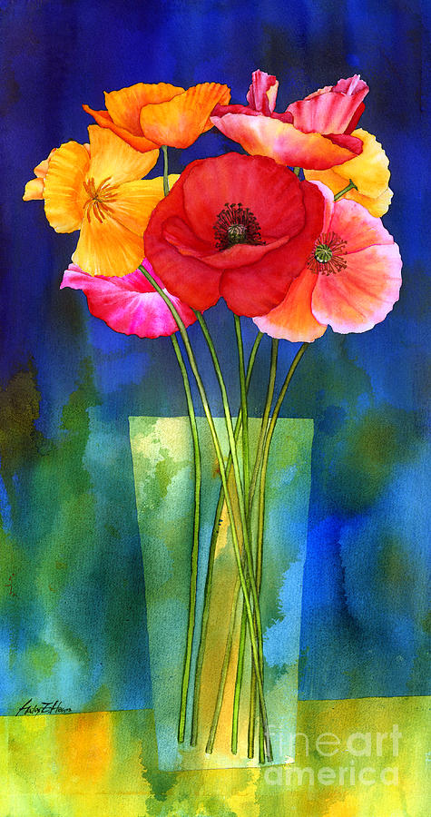Poppies In Vase Painting By Hailey E Herrera
