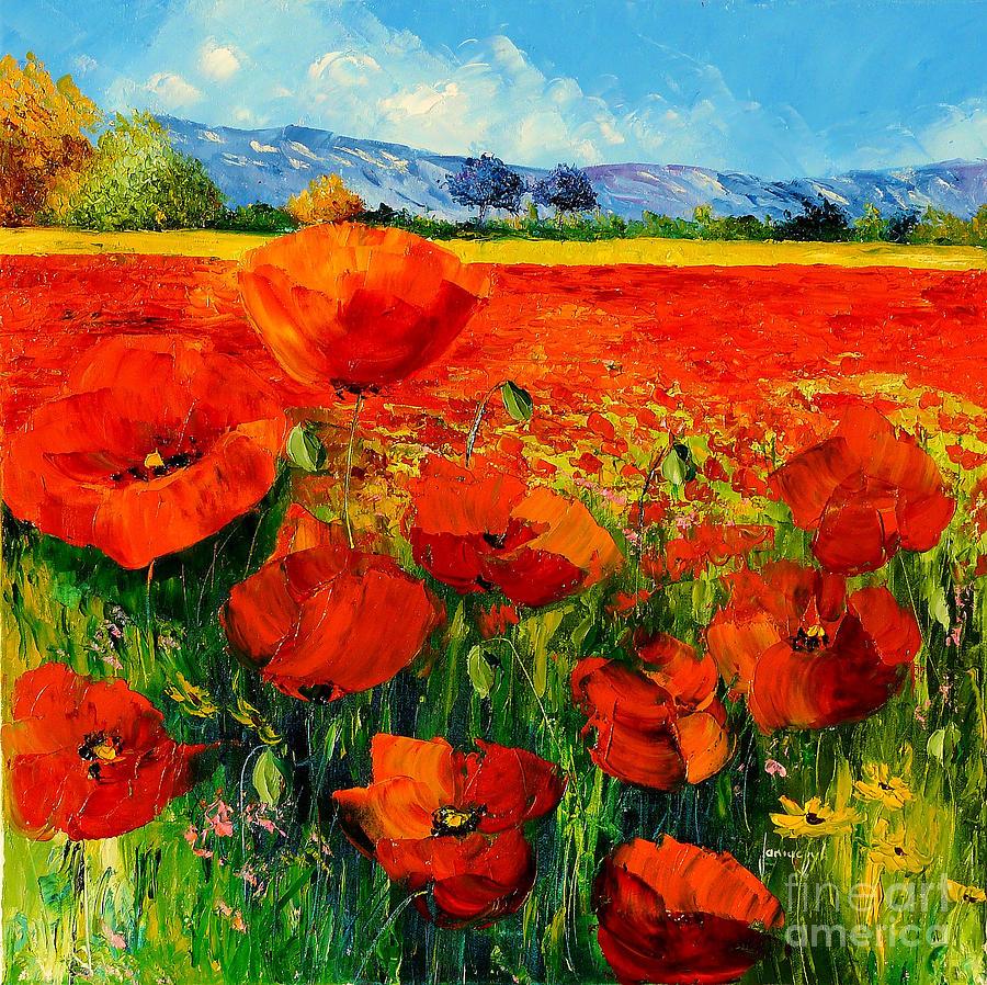 Poppies Digital Art - Poppies by MGL Meiklejohn Graphics Licensing