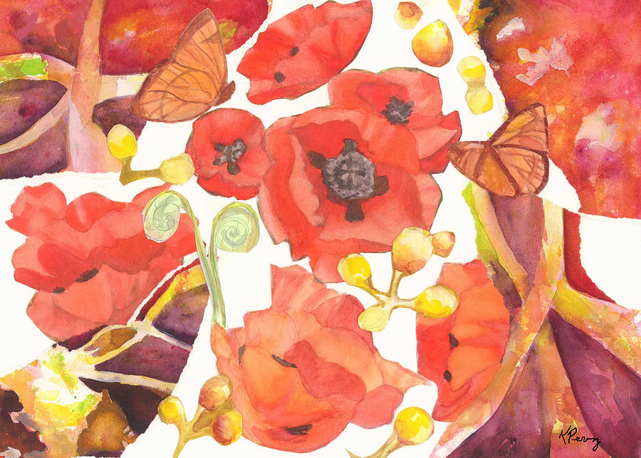 Poppies Painting - Poppies by Kelly Perez