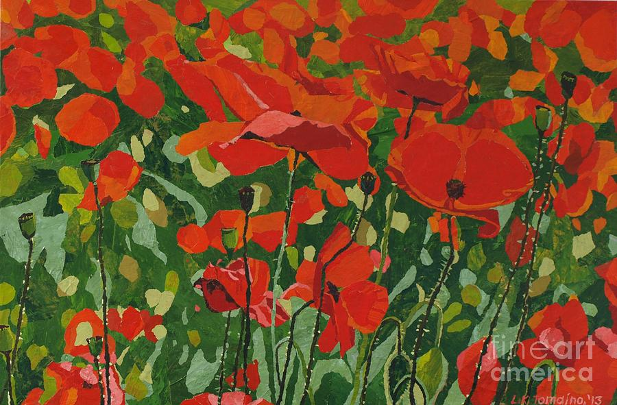 Floral Painting - Poppies by Leah  Tomaino