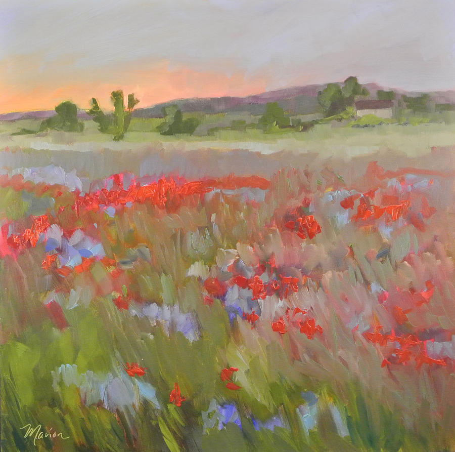 Landscape Painting - Poppies by Marion Corbin Mayer