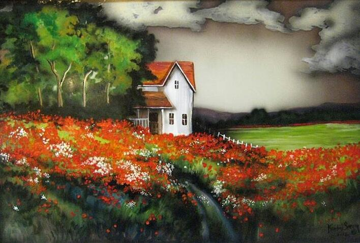 Homestead Painting - Poppies On The Old Homestead by Kendra Sorum