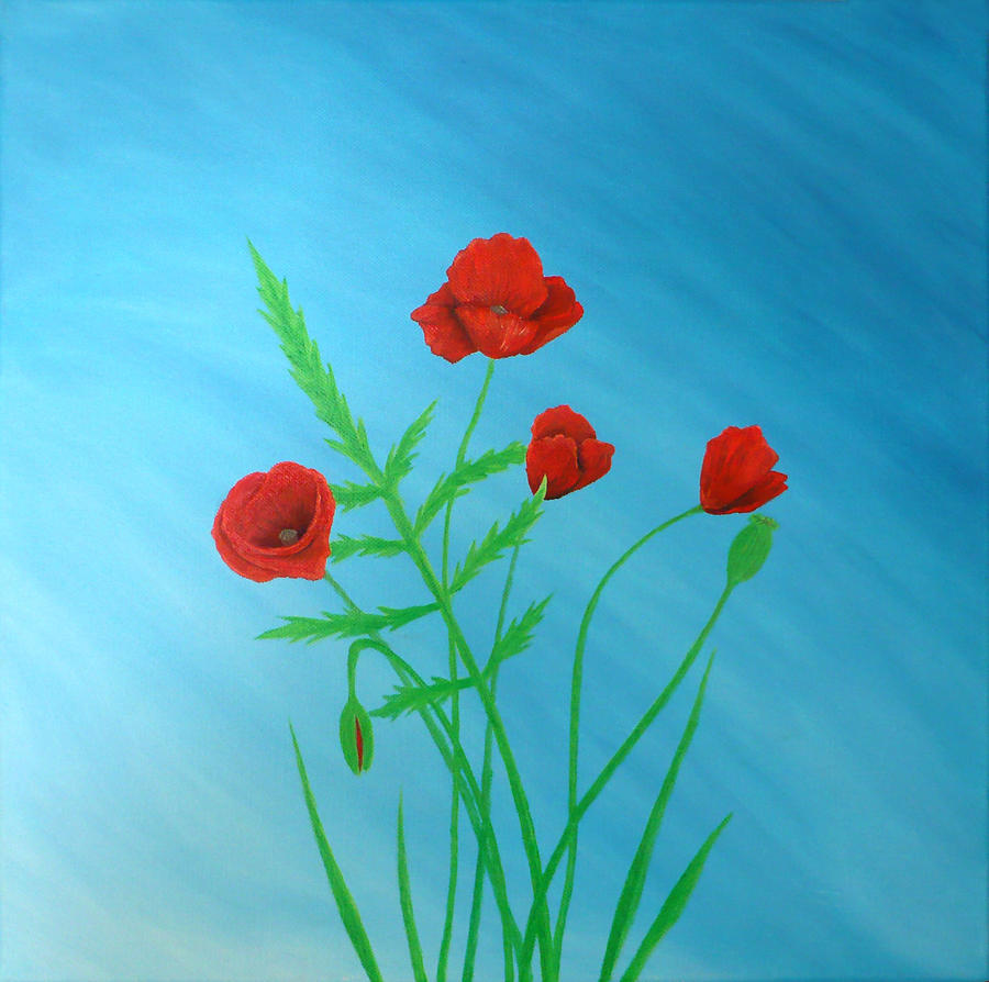 Poppies Painting - Poppies by Sven Fischer