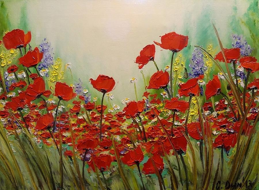 Landscapes Painting - Poppies by Svetla Dimitrova