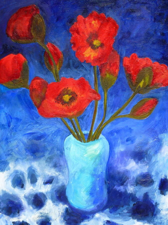 Flowers Painting - Poppies by Valerie Lynch