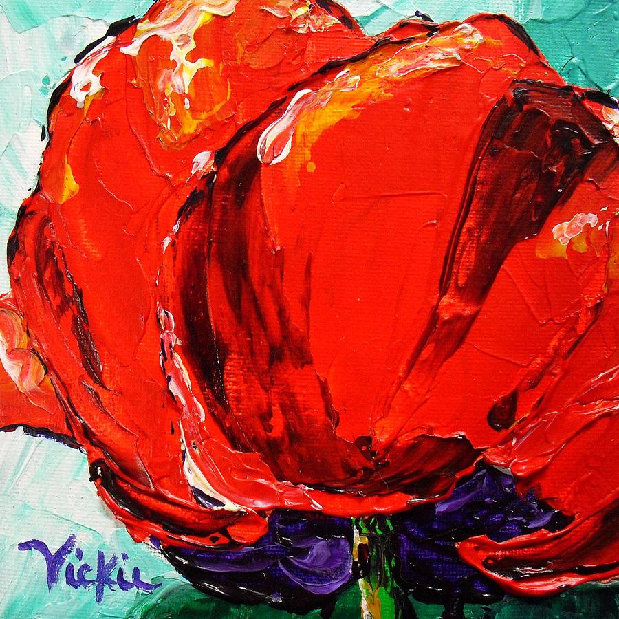 Poppy. Flower Painting - Poppy 3 by Vickie Warner