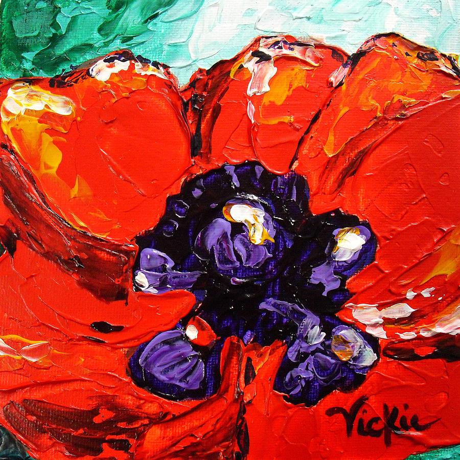 Poppy. Flower Painting - Poppy 4 by Vickie Warner