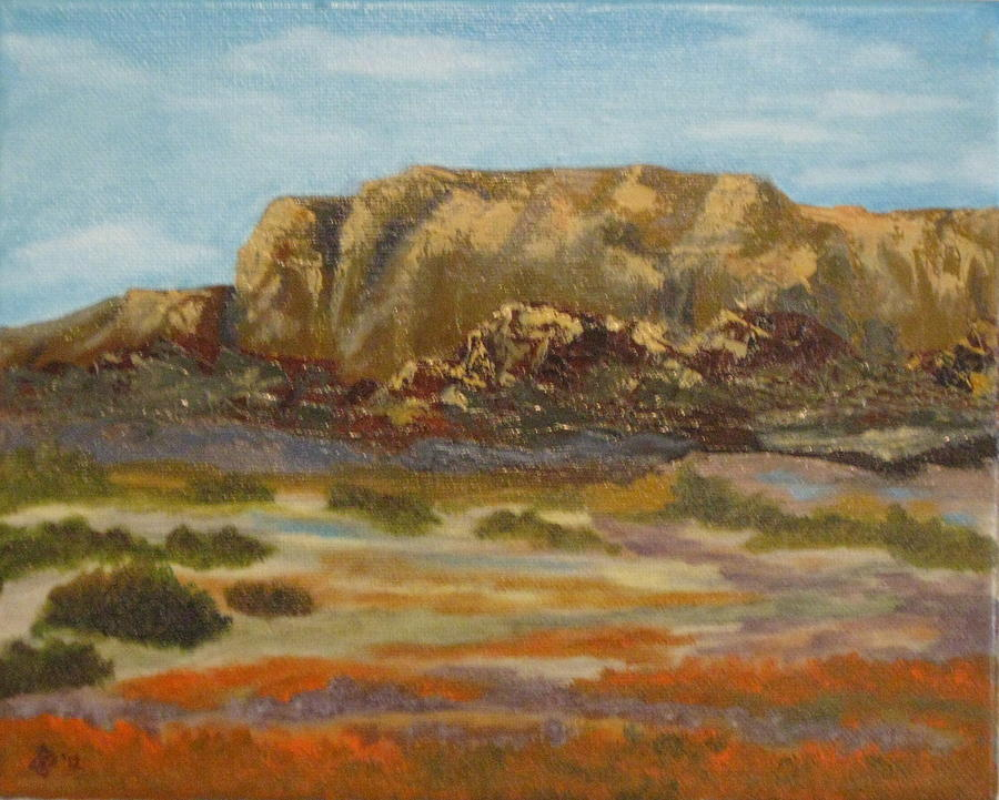 Poppy Painting - Poppy Cliffs by Terry Sonntag