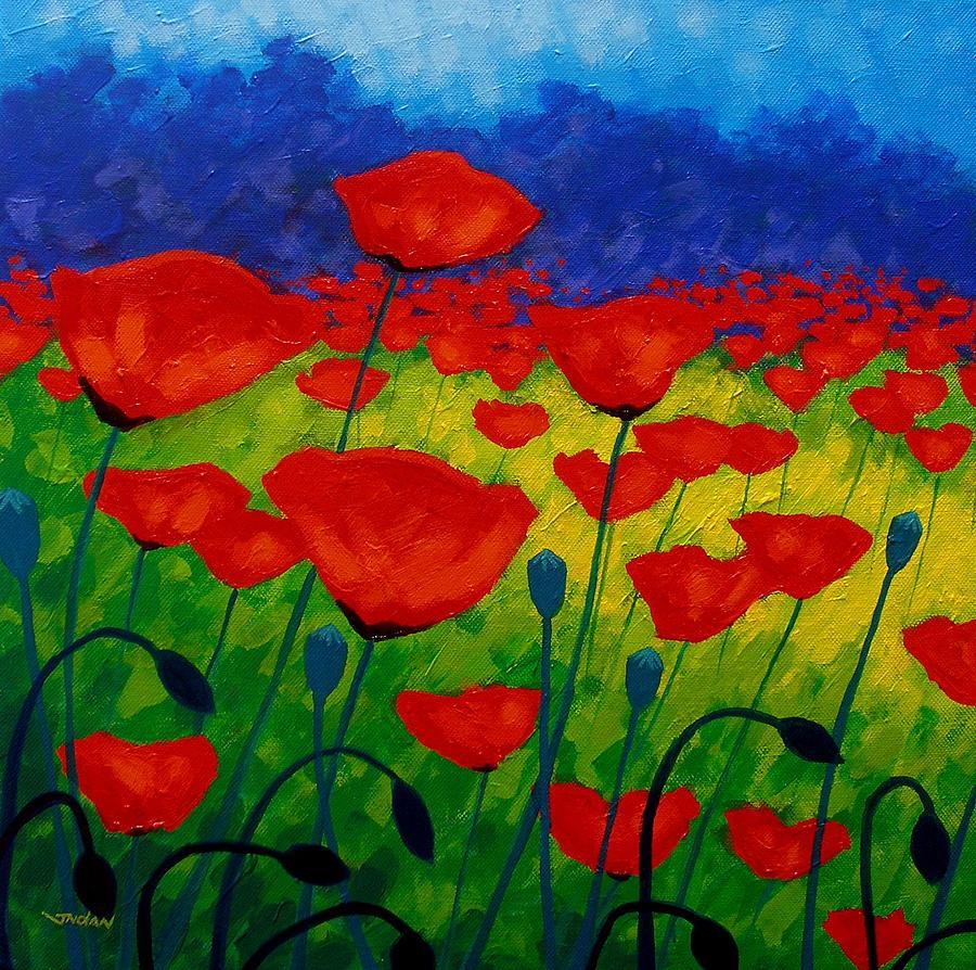 Poppies Painting - Poppy Corner II by John  Nolan